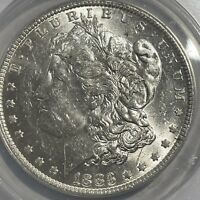 1883-O $1 MORGAN SILVER DOLLAR ANACS MINT STATE 62  WHITE COIN