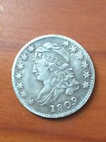 1809 CAPPED BUST DIME HARD TO FIND CHOICE FINE   KEY DATE EARLY COLLECTOR COIN