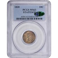Click now to see the BUY IT NOW Price! 1820 10C STATESOF MS63 PCGS CAC  REDBOOK VARIETY CAPPED BUST DIME