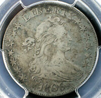 1806 DRAPED BUST HALF DOLLAR POINTED 6 WITH STEM  PCGS VF25 O-115A