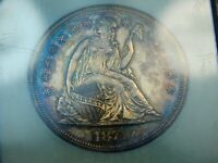 1871 $1 PROOF SEATED LIBERTY DOLLAR PF-60 NGC/CAC,  TONING UNDERGRADED