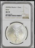 2020 MEXICO SILVER LIBERTAD 1 OZ ONZA .999 MS70   PERFECT 70