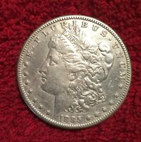 1885-S ABOUT UNCIRCULATED MORGAN SILVER DOLLAR  CLEANED