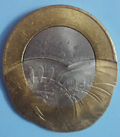 INDIA RS.10/  BI METAL COIN  OFF CENTRE &  MULTIPLE STRIKE E