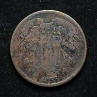 1865 TWO CENT PIECE CORRODED BB7399