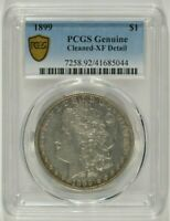 1899 MORGAN SILVER DOLLAR $1 PCGS EXTRA FINE  EF DETAILS CLEANED 41685044