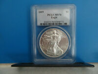 2009 SILVER EAGLE PCGS MS70 SKCSE0041