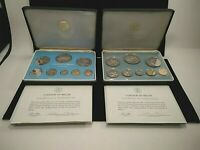 1974 & 1975 COINAGE OF BELIZE PROOF COIN SETS IN ORIGINAL BO