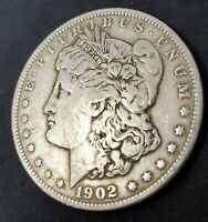 1902 MORGAN SILVER DOLLAR, ESTATE COIN 90 SILVER. , LOTS OF DETAIL COLLECT
