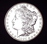 1890 S MSD MS GEM BU SUPER WHITE MIRRORS, 90 SILVER