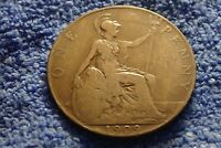 ENGLAND  KING EDWARD VII FARTHING: 1909 IN ABOUT FINE CONDIT