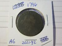 1796 LARGE CENT 1C COIN   AG CONDITION   RARE DATE