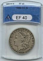 1889 CC  MORGAN DOLLAR - ANACS  EF 40 - CARSON CITY SILVER DOLLAR