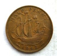GREAT BRITAIN HALF PENNY 1942