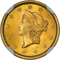 Click now to see the BUY IT NOW Price! 1853 G$1 MS66 NGC CAC GOLD DOLLAR COMP $7 050