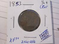 1853 BRAIDED HAIR US HALF CENT 1/2C  EXTRA FINE  COND.  LOT  2021-256