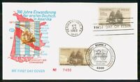MAYFAIRSTAMPS US FDC 1983 CONCORD SHIP GERMANY IMMIGRATION F