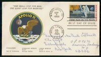 MAYFAIRSTAMPS US FDC 1969 APOLLO 11 1ST MAN ON MOON FIRST DA