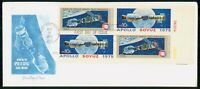 MAYFAIRSTAMPS US FDC 1975 APOLLO SOYUZ MISSION COMBO KENNEDY