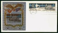 MAYFAIRSTAMPS US FDC 1971 SPACE COMBO EAGLE FLAG FIRST DAY C