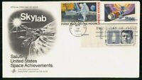 MAYFAIRSTAMPS US FDC 1974 SPACE ACHIEVEMENTS COMBO ART CRAFT