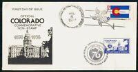 MAYFAIRSTAMPS US FDC 1976 CO FLAG AND 100TH ANNIVERSARY CAPI