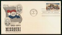 MAYFAIRSTAMPS US FDC 1971 MO 150 YEARS COWBOYS FIRST DAY COV