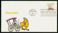 MAYFAIRSTAMPS US FDC 1981 SURREY FIRST DAY COVER WWM_37697