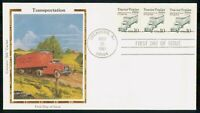 MAYFAIRSTAMPS US FDC 1991 TRACTOR TRAILER BLOCK FIRST DAY CO