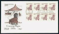 MAYFAIRSTAMPS US FDC 1986 COVER CONESTOGA WAGON COIL STRIPS