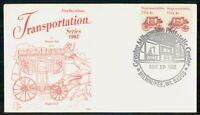MAYFAIRSTAMPS US FDC 1982 COVER STAGECOACH 1890S COIL PAIR W