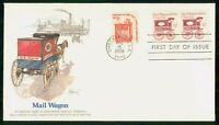 MAYFAIRSTAMPS US FDC 1981 COVER MAIL WAGON COIL PAIR WWM5755