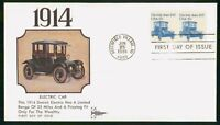 MAYFAIRSTAMPS US FDC 1981 1914 ELECTRIC CAR TRANSPORTATION G
