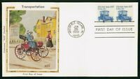 MAYFAIRSTAMPS US FDC 1981 PAIR ELECTRIC AUTO 1917 TRANSPORTA