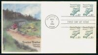 MAYFAIRSTAMPS US FDC 1994 TRACTOR TRAILER BLOCK FIRST DAY CO