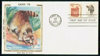 MAYFAIRSTAMPS US FDC 1978 COVER CAPEX RACCOON WWM56229