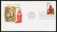 MAYFAIRSTAMPS US FDC 1987 COVER WILDLIFE BROWN BEAR WWM56667