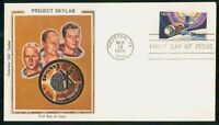 MAYFAIRSTAMPS US FDC 1974 PROJECT SKYLAB SPACE COLORANO SILK