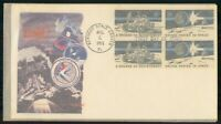 MAYFAIRSTAMPS US FDC 1971 COVER US IN SPACE 8C BLOCK WWM5541