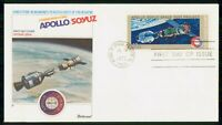MAYFAIRSTAMPS US FDC 1975 APOLLO SOYUZ PROJECT FLEETWOOD FIR