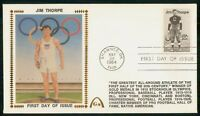 MAYFAIRSTAMPS US FDC 1984 JIM THORPE FOOTBALL OLYMPICS FIRST