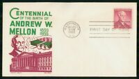 MAYFAIRSTAMPS US FDC 1955 ANDREW W MELLON AMERICAN BANKER CA