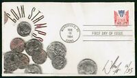 MAYFAIRSTAMPS US FDC 1994 COIN STAMPS SIGNED 16/33 VIRGINIA
