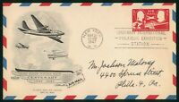 MAYFAIRSTAMPS US FDC 1947 POSTAGE STAMP CENTENARY AIR MAIL A