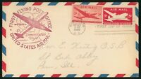 MAYFAIRSTAMPS US FDC 1946 FLYING POST OFFICE DEMONSTRATION F