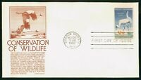 MAYFAIRSTAMPS US FDC 1957 WHOOPING CRANES FIRST DAY COVER WW