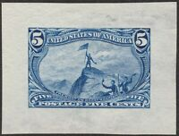1898 5 TRANS MISSISSIPPI DIE PROOF ON WOVE FROM ROOSEVELT AL