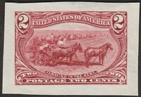 1898 2 TRANS MISSISSIPPI DIE PROOF ON WOVE FROM ROOSEVELT AL