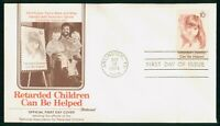MAYFAIRSTAMPS US FDC 1974 CHILD HOLDING HAND CALVIN HILL FIR