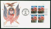 MAYFAIRSTAMPS US FDC 1997 FLAG BUGGLE BLOCK FIRST DAY COVER